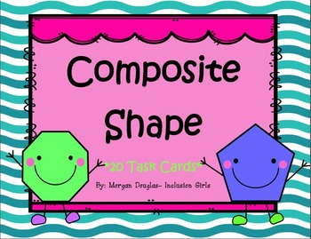 Composite Shape Pattern Block Task Cards Bundle 1.G.2