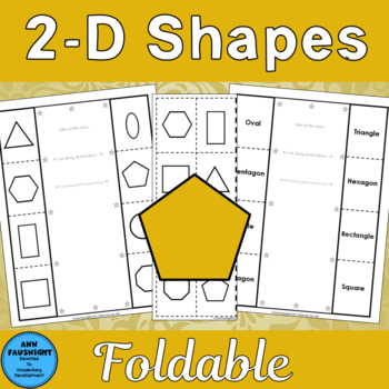 2-D Geometric Shapes Foldable Activities for math