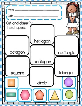 2 D Geometry Practice Sheets with Differentiated Activities