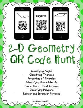 2-D Geometry QR Code Hunt