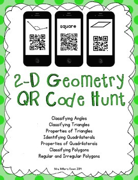 2-D Geometry QR Code Hunt