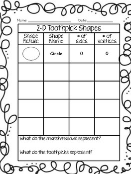 graphic regarding Building With Toothpicks and Marshmallows Printable called Marshmallows And Toothpicks Worksheets Education Products
