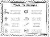 2 D'Nealian Trace the Homonyms Worksheets. Preschool-2nd Grade Handwriting.