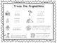 2 D'Nealian Trace the Prepositions Worksheets. Preschool-2