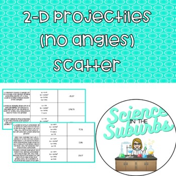 2-D Projectiles Scatter (No Trigonometry)