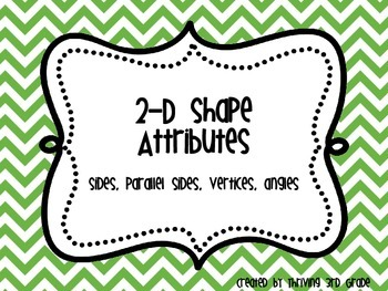 2-D Shape Attributes Chevron Anchor Charts