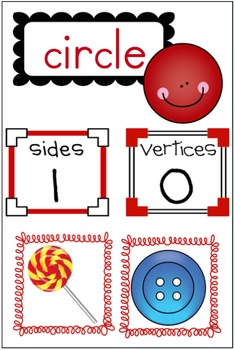 2-D Shape BUNDLE with Poster Kit AND Student Pages