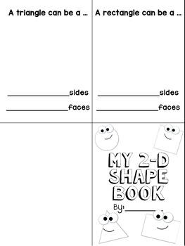 2-D Shape Book - Editable