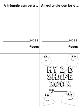 2-D Shape Book - Editable