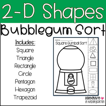 2-D Shape Bubblegum Sort