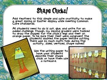 2 D Shape Chicks
