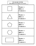 2-D Shape Identification & Characteristics With Shapes