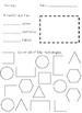 2-D Shape Identity Worksheets
