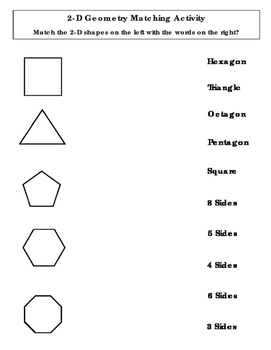 2-D Shape Matching Activity