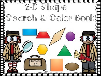 2-D Shape Math Practice/Trace Count and Color