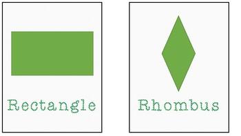 2-D Shape Mini-Posters/Flashcards
