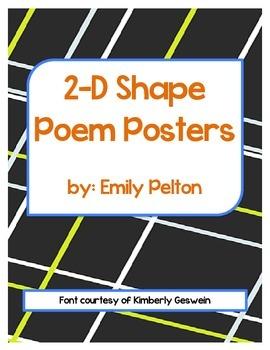 2-D Shape Poem Posters