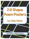 2-D Shape Poem Posters