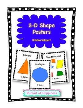 2-D Shape Posters (FREEBIE)