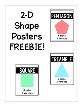 2-D Shape Posters FREEBIE
