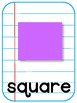 2-D Shape Posters Notebook Paper Background