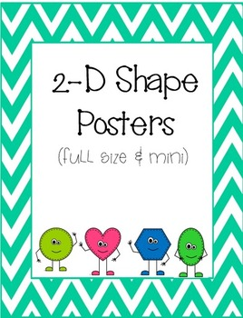 2-D Shape Posters (full size and mini)