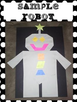 2-D Shape Robot Glyph (Common-Core Aligned - 2.G1, 3.G1, 4.G1)