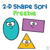 2-D Shape Sort Freebie