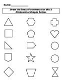 2-D Shape Symmetry Activity