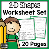 Shape Worksheets 2-D - No Prep