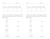 2-D Shape to 3-D Form with Value Scale Handout