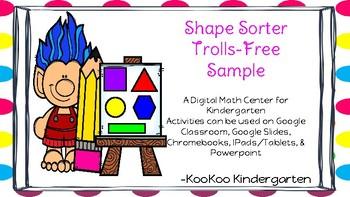 2-D Shapes- A Digital Math Center----FREE SAMPLE
