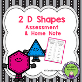 2 D Shapes - Assessment & Home Note