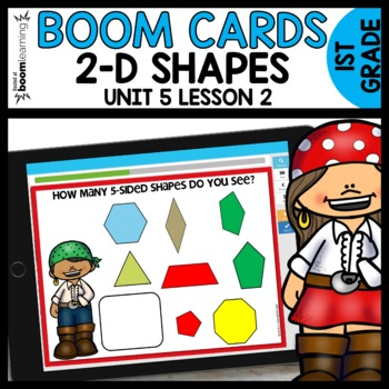 2-D Shapes BOOM CARDS | DIGITAL TASK CARDS | Module 5 Lesson 2