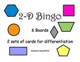 2-D Shapes Bingo Game with Differentiated Calling Cards
