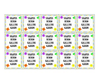 2-D Shapes Bingo - Kindergarten