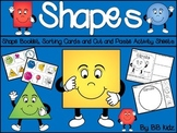 2 D Shapes - Booklet, Sorting, Cut and Paste Activities for Kindergarten