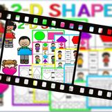 Shapes Activities 2D (2D Sorts, Center Work, Worksheets)
