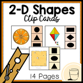 2-D Shapes Clip Cards