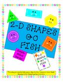 2-D Shapes Go Fish - Kindergarten