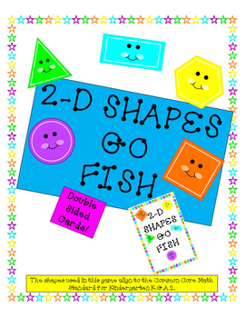 2-D Shapes Go Fish - Kindergarten