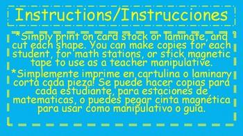 2-D Shapes Manipulatives-Bilingual