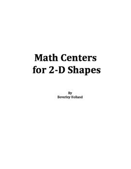 2-D Shapes Math Centers
