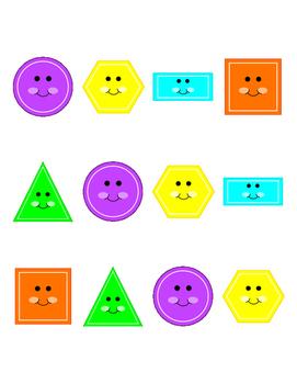 2-D Shapes Memory - Kindergarten