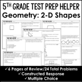 "2-D Shapes Problems 5.G.3 and 5.G.4 - ""No Prep"" Test Prep"