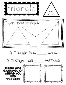 2-D Shapes Student Worksheets