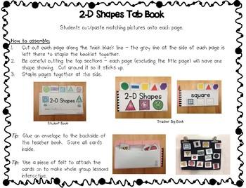 2-D Shapes Tab Book