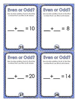 Even or Odd Task Cards - 2.OA.C.3