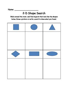2-D Shapes Worksheets for Primary Grades