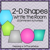 Shapes Write the Room Packet (2-D)